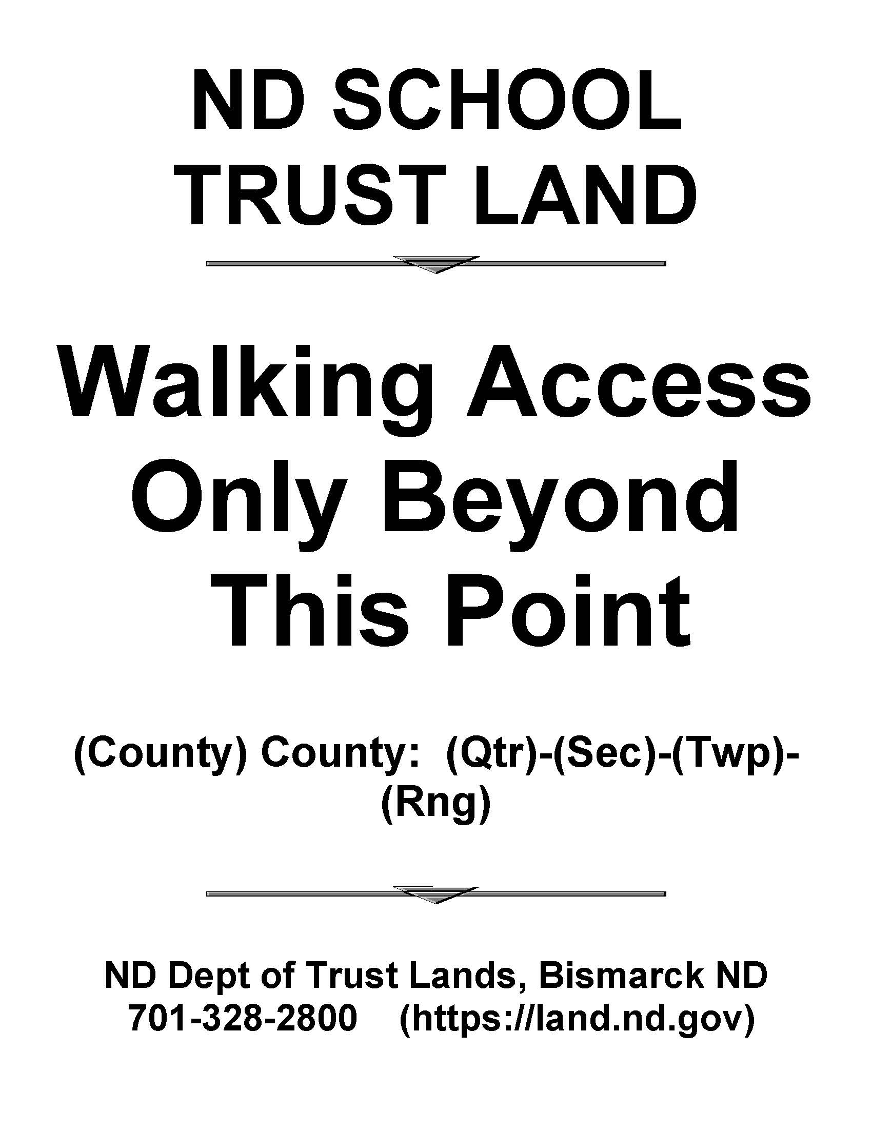 Walking Access Sign